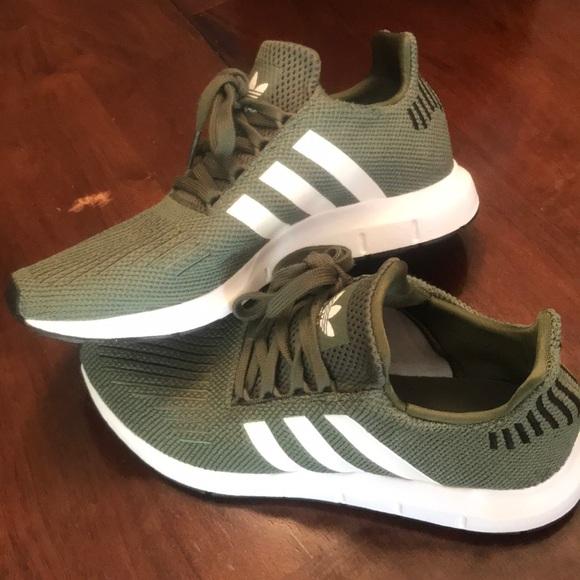 women's adidas swift run athletic shoe olive
